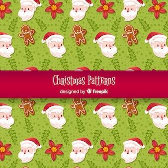 Patrón de elementos de navidad