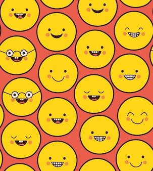 Patrón de emojis felices