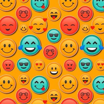 Patrón de emoticonos de sonrisa