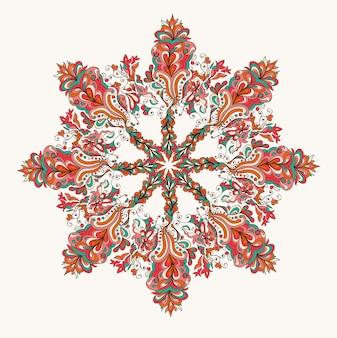Patrón de encaje redondo ornamental