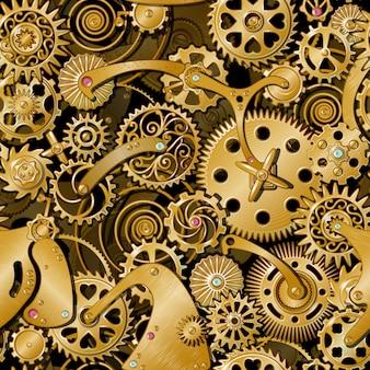 Patrón de engranajes dorados