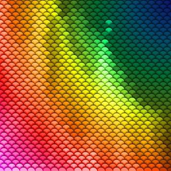 Patrón de escamas de colores