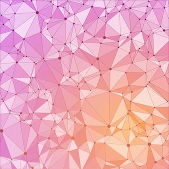 Sin patrón de escombros, triángulos, reflejos, líneas y puntos.