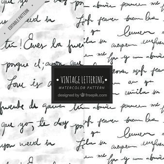 Patrón de escritura con tinta
