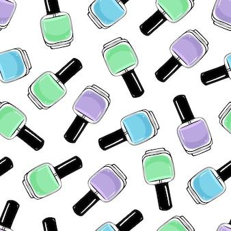 Patrón de esmalte de uñas transparente.