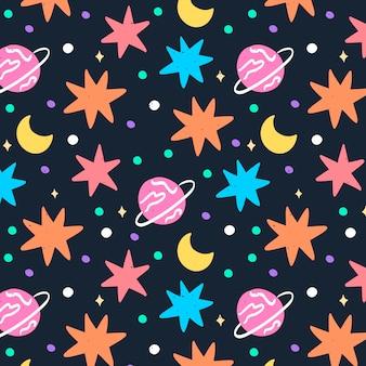 Patrón de espacio doodle