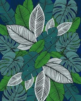 Patrón estampado hojas