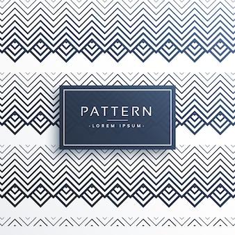 Patrón de estilo azteca zigzag abstracto