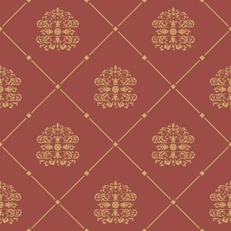 Patrón de estilo barroco sin fisuras. fondo floral del diseño del damasco,