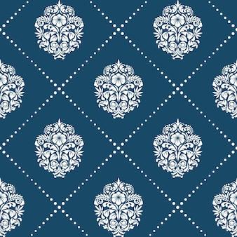 Patrón de estilo barroco victoriano. adorno de fondo de elemento floral,