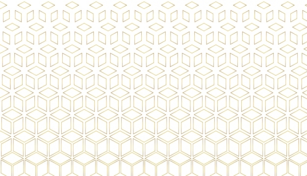 Patrón de estilo hexagonal dorado