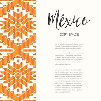 Patrón de estilo mexicano - plantilla de banner vertical de espacio de copia