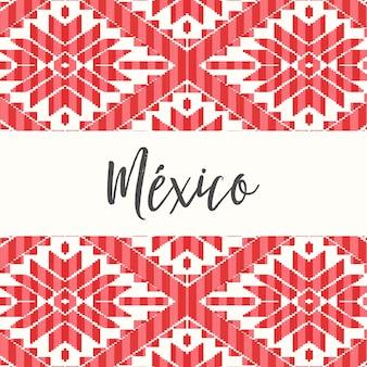 Patrón de estilo mexicano - plantilla de espacio de copia