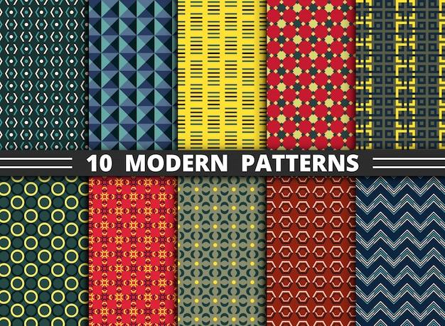 Patrón de estilo moderno abstracto