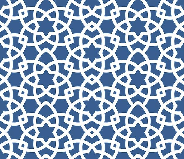 Patrón de estilo persa transparente ornamental árabe