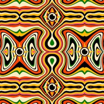 Patrón de estilo psicodélico dibujado a mano