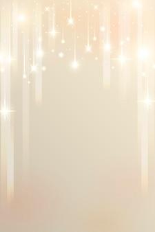 Patrón de estrellas brillantes sobre fondo dorado