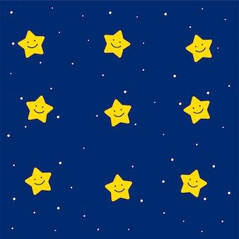 Patrón de estrellas lindas para niños