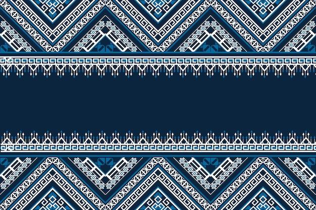 Patrón étnico geométrico sin costuras. diseño de fondo, alfombra, papel tapiz, ropa, envoltura, batik, tela, estilo de bordado de ilustración vectorial.