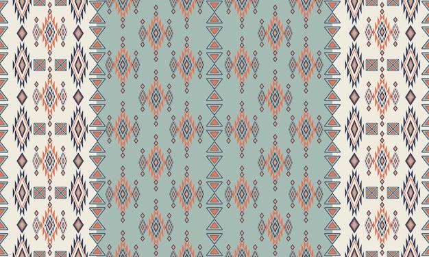 Patrón étnico geométrico oriental. patrón sin costuras. diseño para tela, cortina, fondo, alfombra, papel tapiz, ropa, envoltura, batik, tela, ilustración vectorial. patrón de orzuelo
