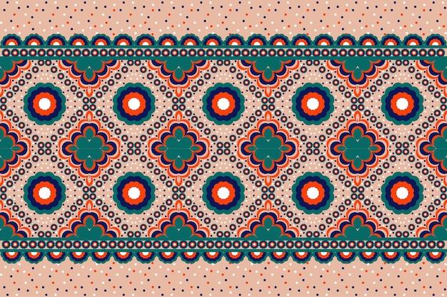 Patrón étnico geométrico oriental. patrón sin costuras para tela, fondo, papel tapiz