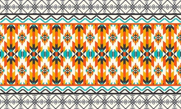 Patrón étnico geométrico oriental de patrones sin fisuras.