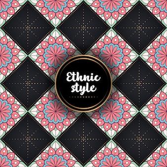 Patrón étnico ornamental de lujo