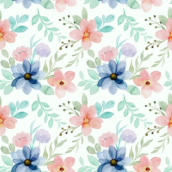 Patrón sin fisuras de acuarela floral colorida