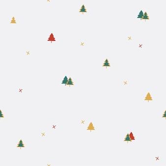 Patrón sin fisuras de árbol de pino de navidad