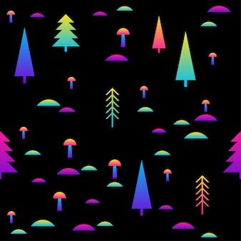 Patrón sin fisuras de arco iris abstracto. fondo de muestra moderno para tarjeta de cumpleaños, invitación a fiesta infantil, papel tapiz, papel de regalo navideño, cartel de venta de tienda, impresión de bolsa, camiseta, publicidad de taller