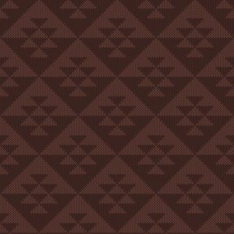 Patrón sin fisuras azteca tribal tradicional. diseño de suéter de tejer. textura de punto de lana