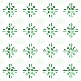 Patrón sin fisuras de azulejo verde simple