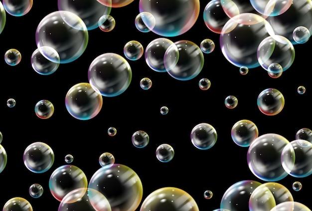 Patrón sin fisuras de las burbujas de jabón.