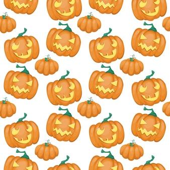 Patrón sin fisuras con calabaza feliz halloween.