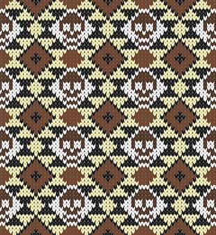 Patrón sin fisuras con calavera y adornos étnicos mexicanos, latinoamericanos para el diseño del día de los muertos.