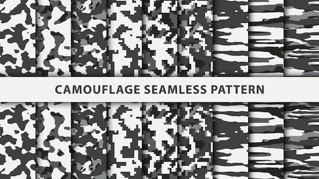 Patrón sin fisuras de camuflaje militar y militar