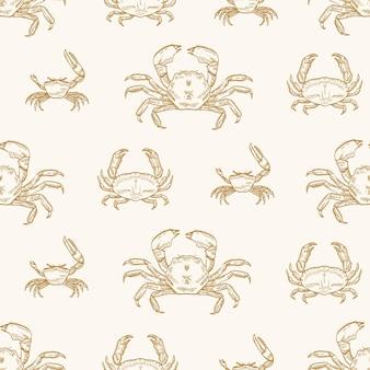 Patrón sin fisuras de cangrejos de mar