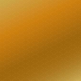 Patrón sin fisuras chino abstracto, fondo de oro, ilustración vectorial.