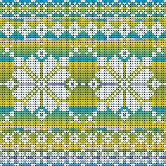Patrón sin fisuras de colores fríos de estrella de navidad para suéter, fondo degradado