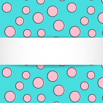 Patrón sin fisuras de confeti colorido pop art con banner en blanco