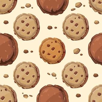 Patrón sin fisuras de cookies