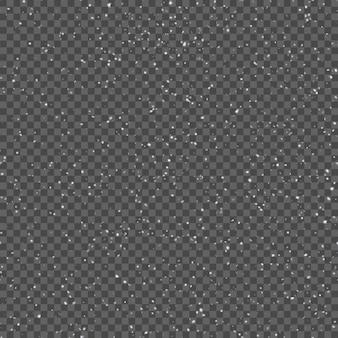 Patrón sin fisuras con copos de nieve cayendo realistas.