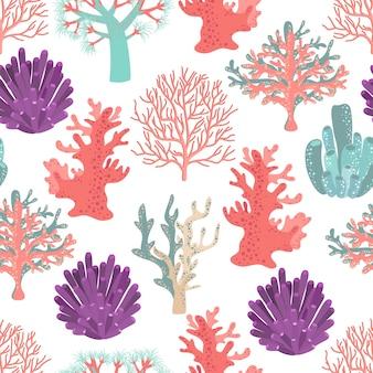 Patrón sin fisuras de corales.
