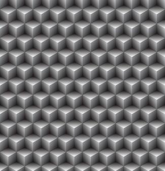 Patrón sin fisuras de cubo abstracto