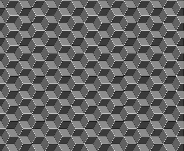 Patrón sin fisuras de cubos abstractos