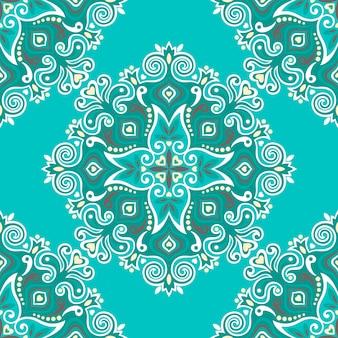 Patrón sin fisuras con decoración étnica abstracta.