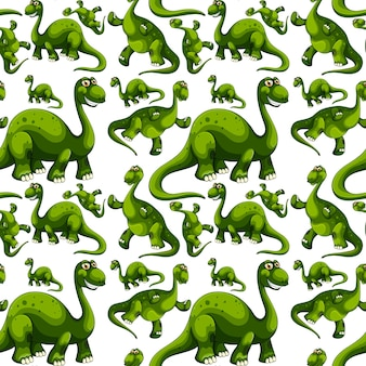 Patrón sin fisuras con dibujos animados de dinosaurios de fantasía