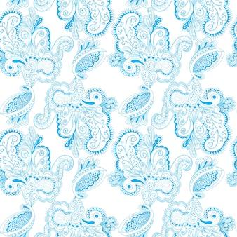 Patrón sin fisuras con diseños arabescos de encaje