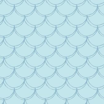 Patrón sin fisuras de escala de pescado. reptil, textura de piel de dragón. fondo cultivable para su tela, diseño textil, papel de regalo, traje de baño o papel tapiz. cola de sirena azul con escamas de pescado bajo el agua.