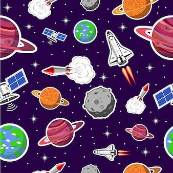 Patrón sin fisuras de espacio